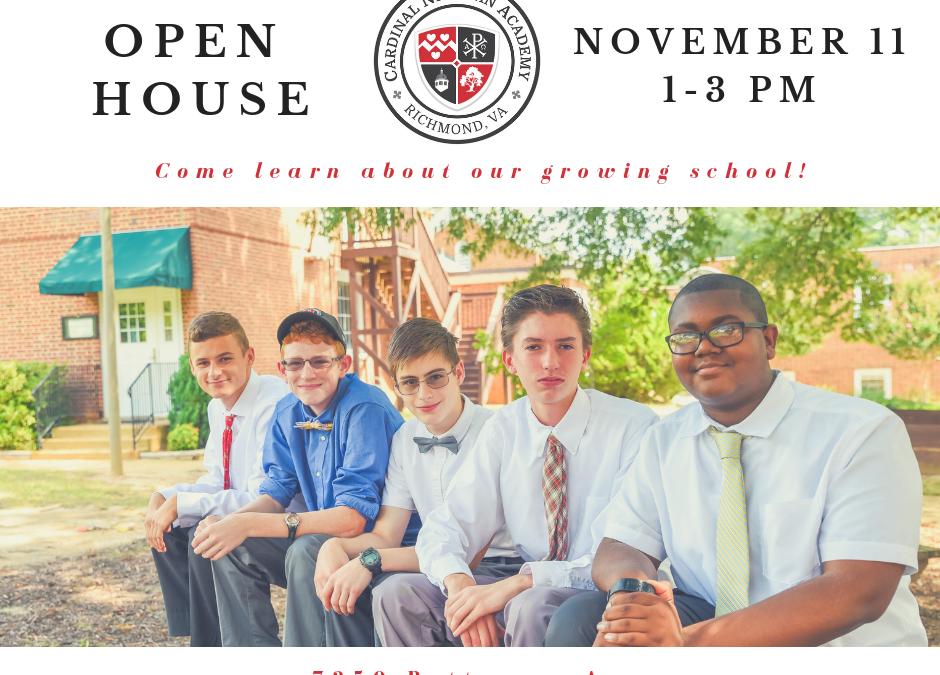 Open House   November 11, 1-3pm