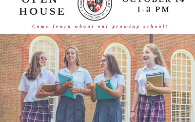 Admissions Open House October 14 from 1-3pm