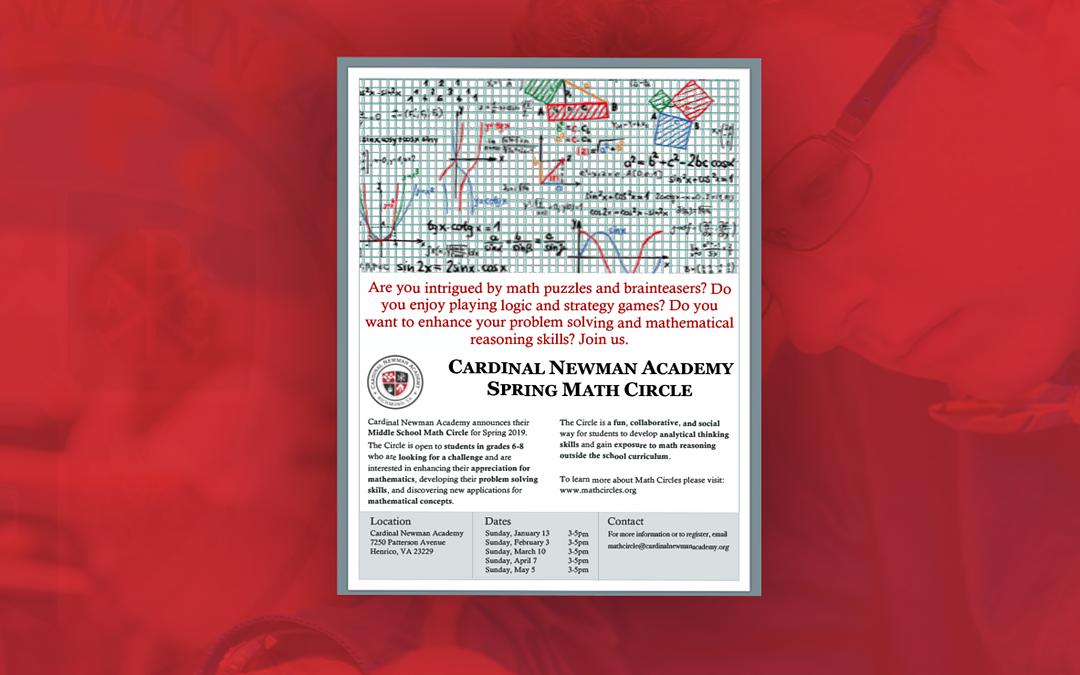 Cardinal Newman Academy Spring Math Circle