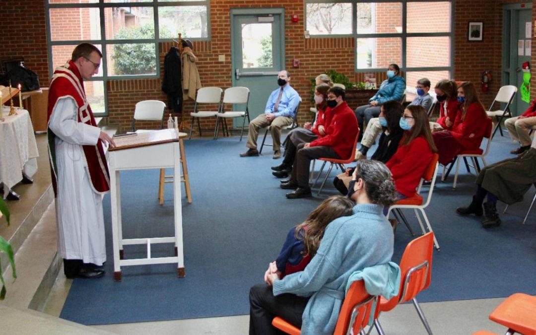 Mass at Cardinal Newman Academy